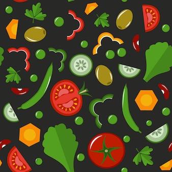 Groenten naadloos patroon.