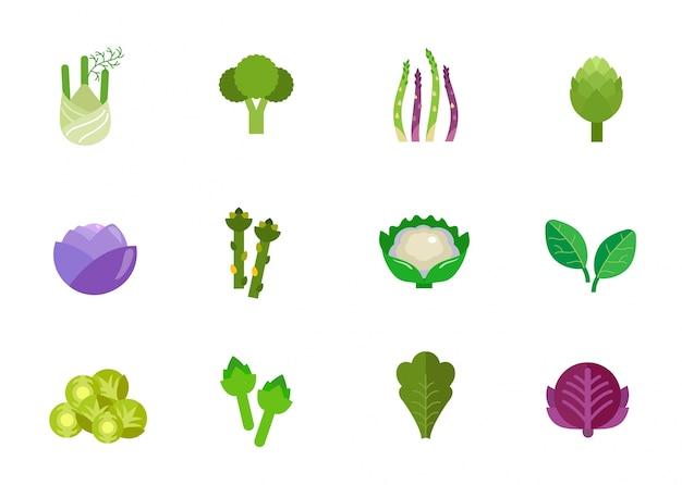 Groenten pictogram set