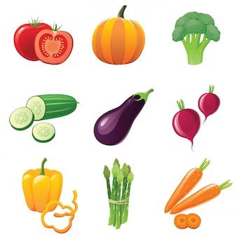 Groenten pictogrammen