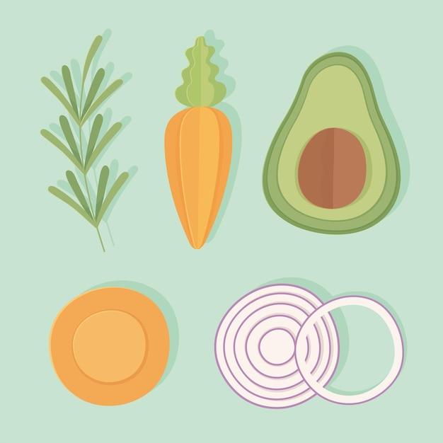 Groenten pictogrammenset