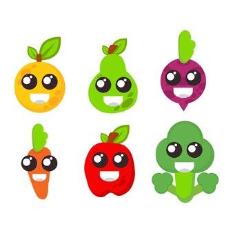 Groenten swith glimlach gezicht illustratie