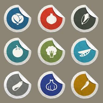 Groenten vector iconen voor websites en gebruikersinterface