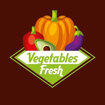 Groenten vers voedsel