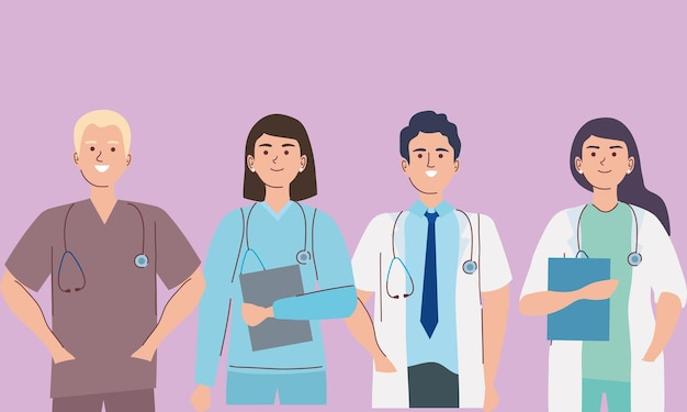 Groep artsen