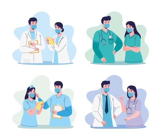 Groep artsenpersoneel