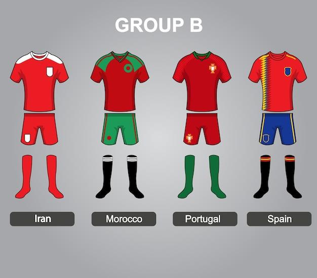 Groep b team jersey