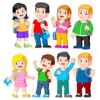 Groep basisschoolkinderen