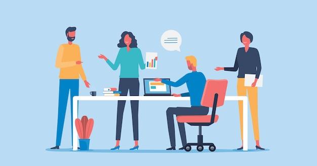 Groep business teamvergadering concept