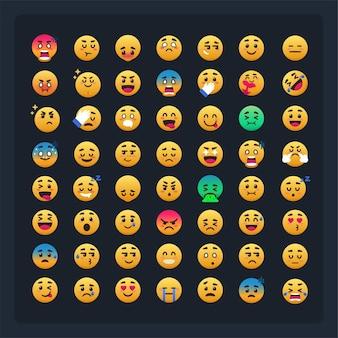 Groep emoji emoticon volledige set bundel