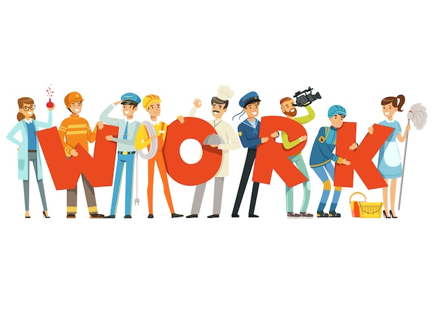 Groep glimlachende mensen in eenvormige sport houdend het woord fitness cartoon kleurrijke illustratie op een witte achtergrond