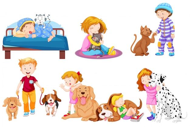 Groep huisdierenliefhebber