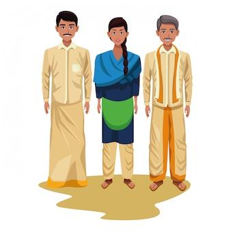 Groep indische mensenavatar