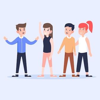 Groep jongeren samenzijn
