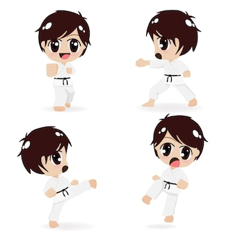 Groep karate kinderen