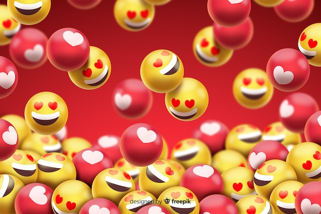 Groep liefdesmiley emoticons