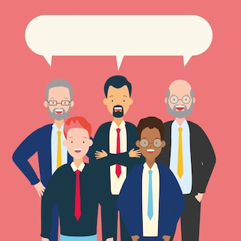 Groep mannen praten