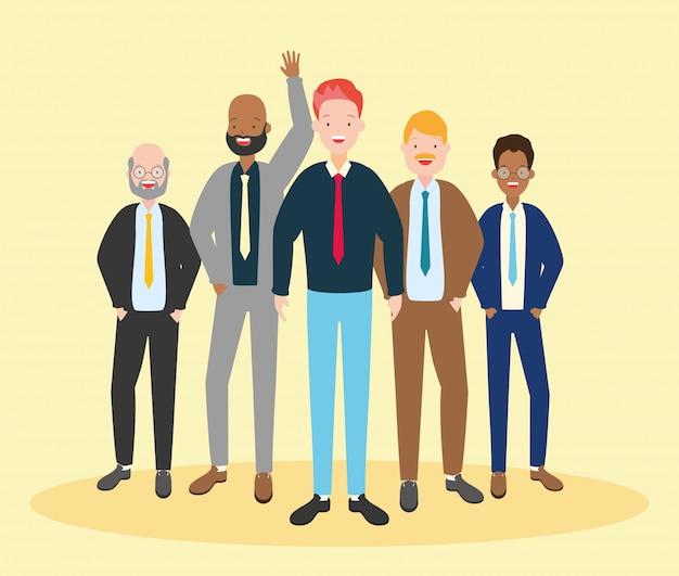 Groep mannen