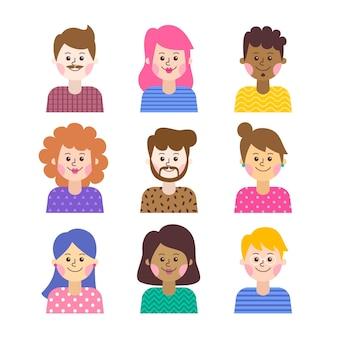 Groep mensen avatars concept