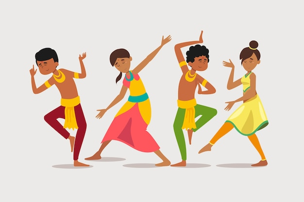 Groep mensen dansen bollywood