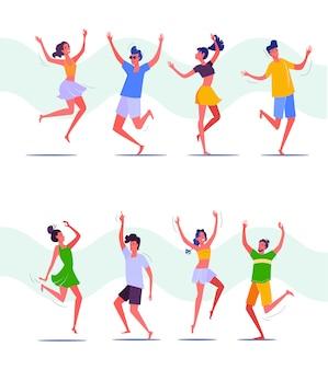 Groep mensen dansen samen