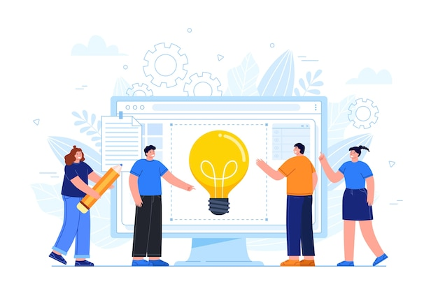 Groep mensen die ideeën delen