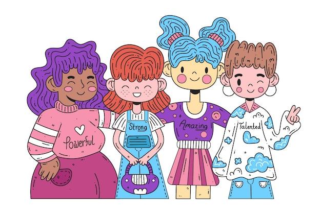 Groep mensen illustratie concept