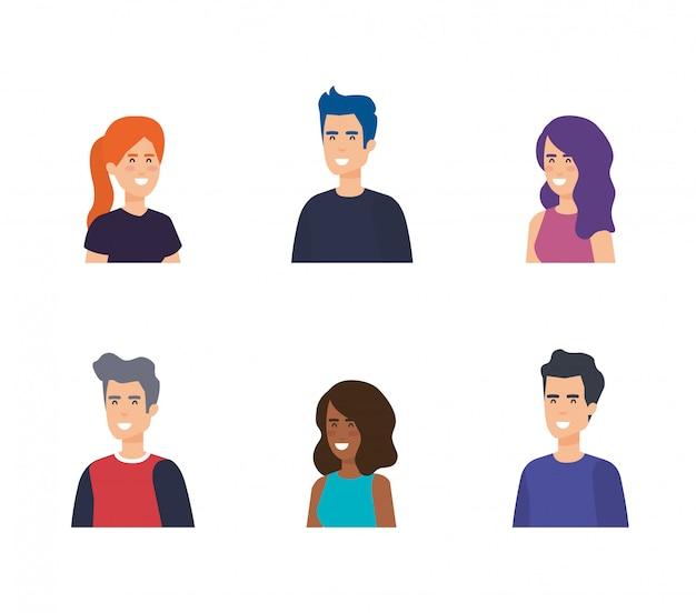 Groep mensen karakters