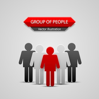 Groep mensen leider. vector illustratie achtergrond