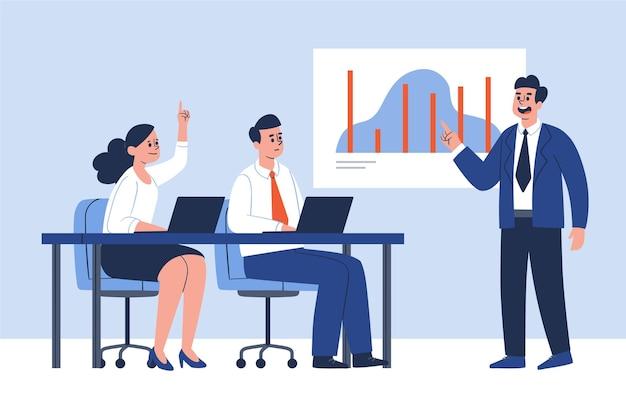 Groep mensen op bedrijfsopleiding