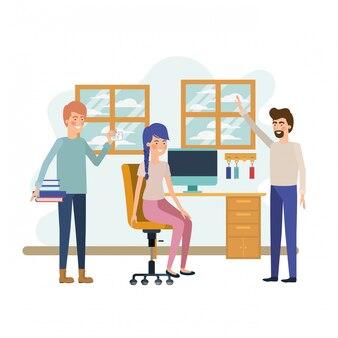 Groep mensen op het werkkantoor