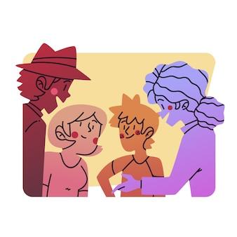 Groep mensen tijd samen doorbrengen