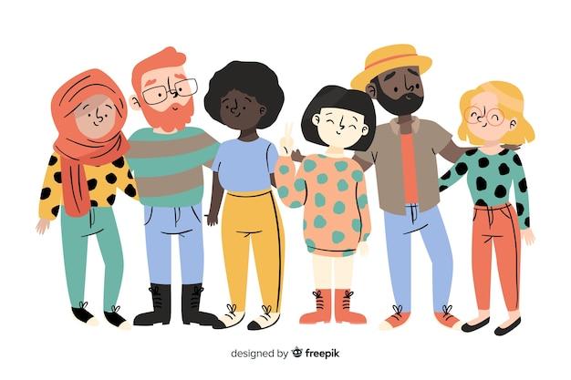 Groep mensen uit verschillende rassen