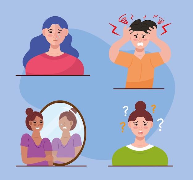 Groep personen met een bipolaire stoornis