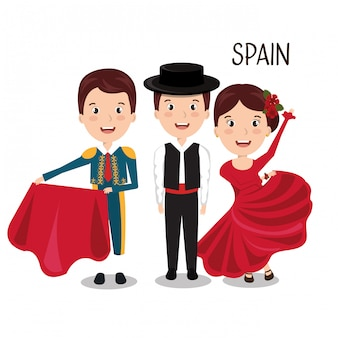 Groep spanje muziek dans ontwerp
