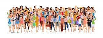Groep van de vrouw