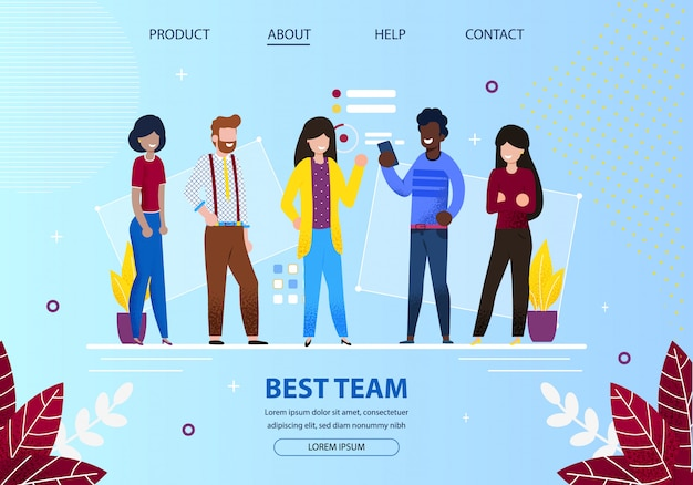 Groep van jonge kantoormedewerkers beste teamvergadering.