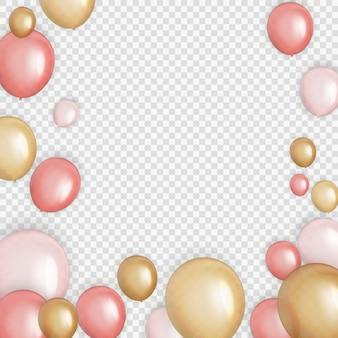 Groep van kleur glanzend helium ballonnen achtergrond. set van ballonnen voor verjaardag, verjaardag, feest decoraties.