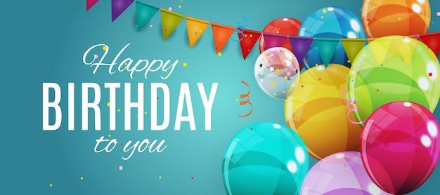 Groep van kleur glanzende helium ballonnen. set van ballonnen voor verjaardag, verjaardag, feest decoraties.