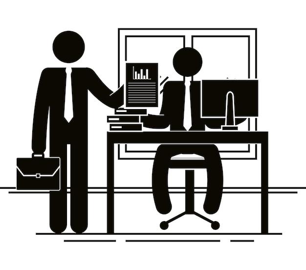 Groep van mensen uit het bedrijfsleven in het kantoor teamwerk