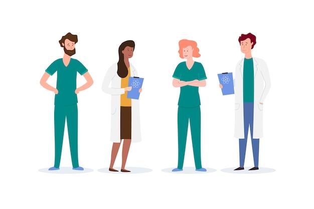 Groep van professioneel medisch team