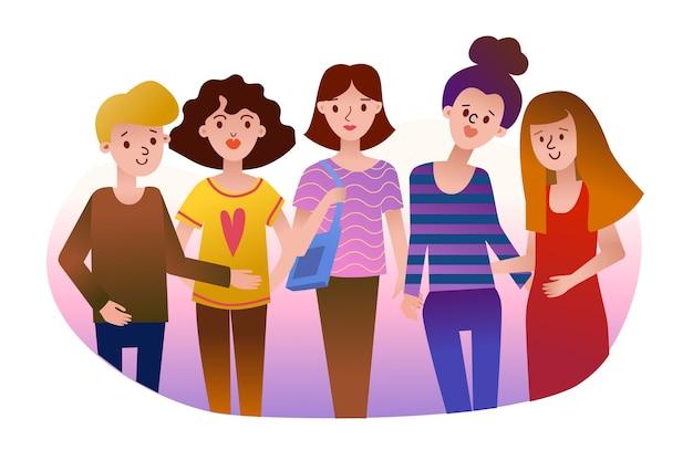Groep vrouwen