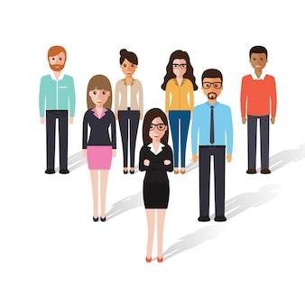 Groep werkende mensen
