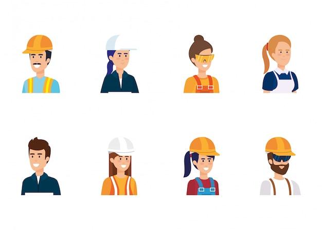 Groep werknemers karakters