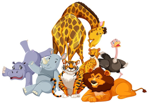 Groep wilde dieren