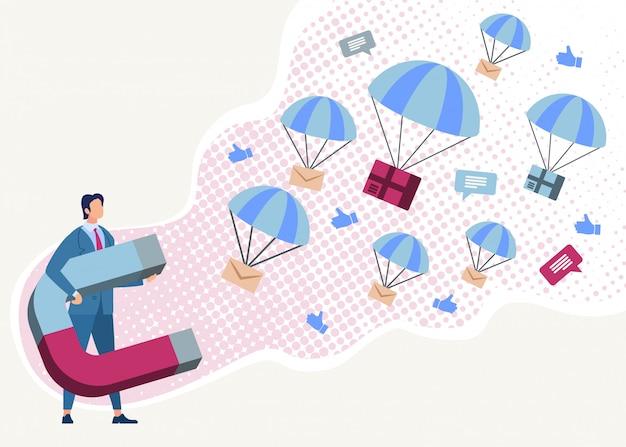 Groeps-mailing, nieuwe klanten aantrekken met magnetisch