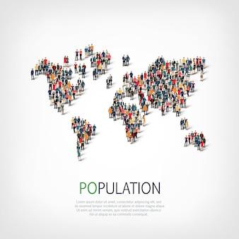 Groepsmensen vormen de bevolking