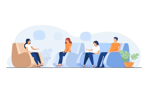 Groepstherapie en ondersteuning concept