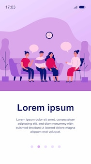 Groepstherapie gesprek illustratie
