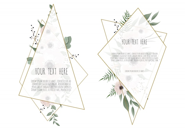 Groet, briefkaart bruiloft uitnodigen sjabloon.