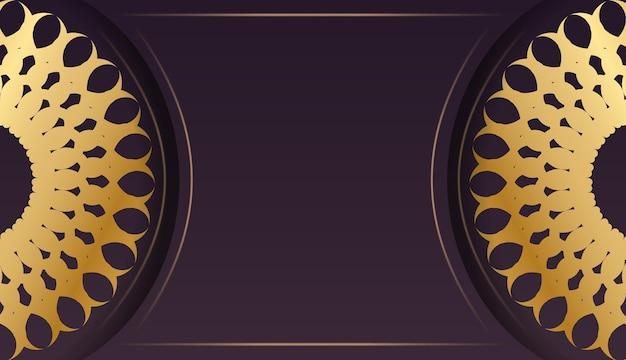 Groet flyer bordeaux met luxe gouden patroon voor uw merk.